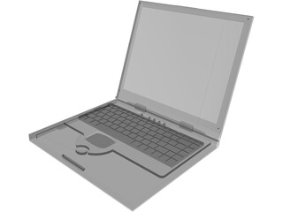 Dell Laptop Notebook 3D Model