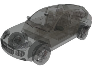 Porsche Cayenne Turbo (2005) 3D Model