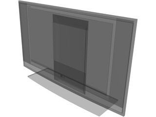 LG Flat TV Screen 3D Model