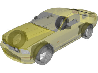 Ford Mustang (2005) 3D Model
