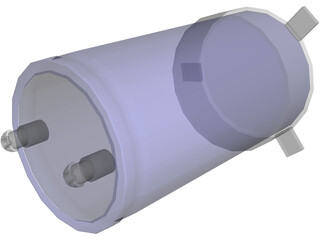 High Voltage Capacitor 3D Model