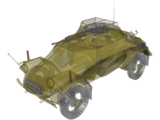 SdKfz222 Panzer Wagon - WWII German Armoured Car 3D Model