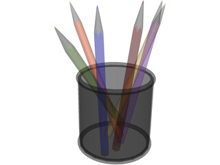 Pencils in the Box 3D Model