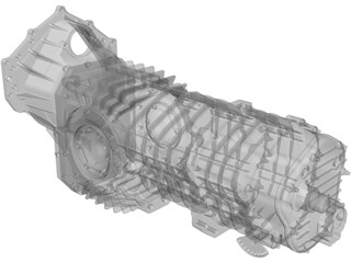 Mendeola HD Gearbox 3D Model