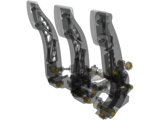 Tilton 900-series Racing Pedal Box 3D Model