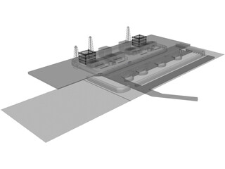 Fukushima Atomic Reactor 3D Model